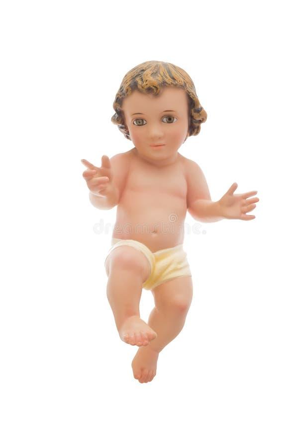 Behandla som ett barn Jesus som isoleras på vit arkivfoton