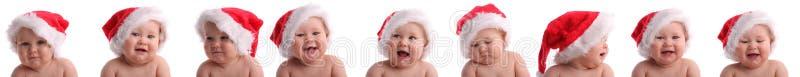 behandla som ett barn julcollagehatten arkivbild