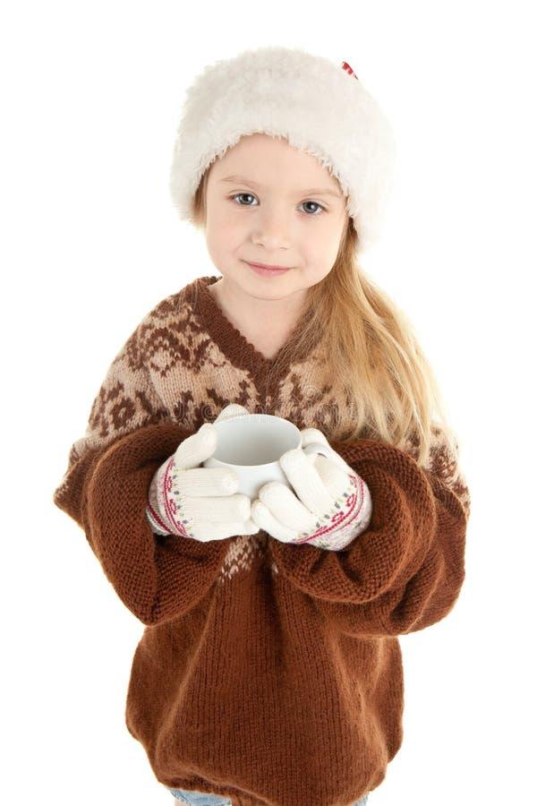 behandla som ett barn julflickan royaltyfri bild