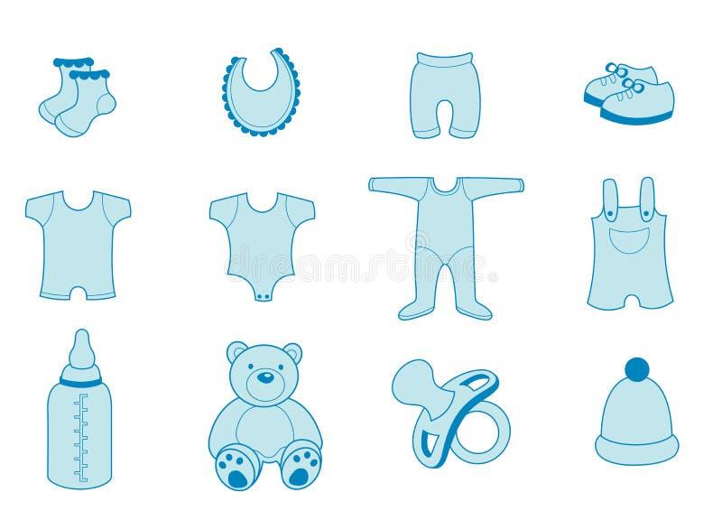 Behandla som ett barn kläder stock illustrationer