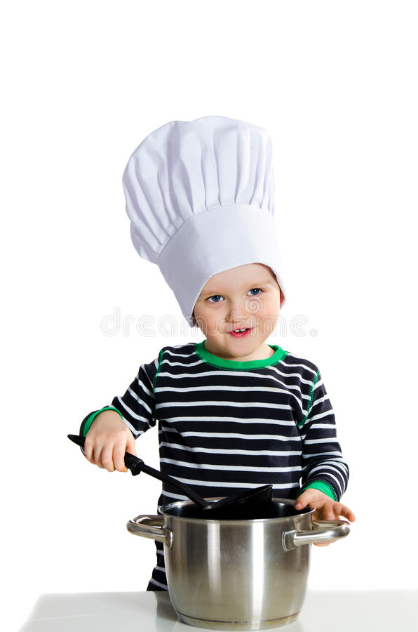 behandla som ett barn kocken arkivbilder
