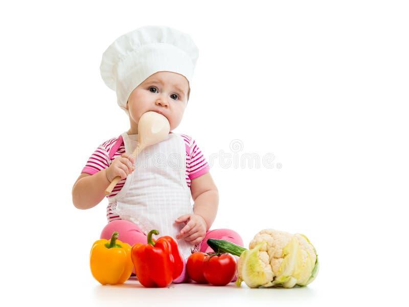 Behandla som ett barn kocken arkivbild