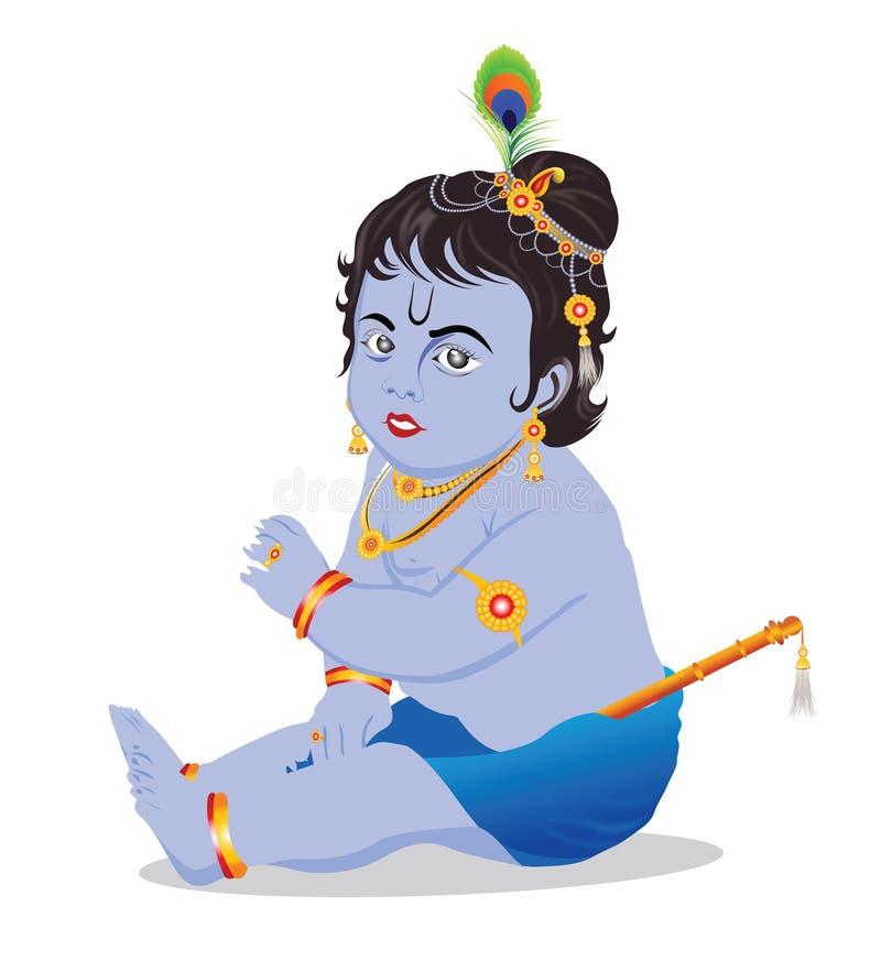 behandla som ett barn krishnaen royaltyfri illustrationer