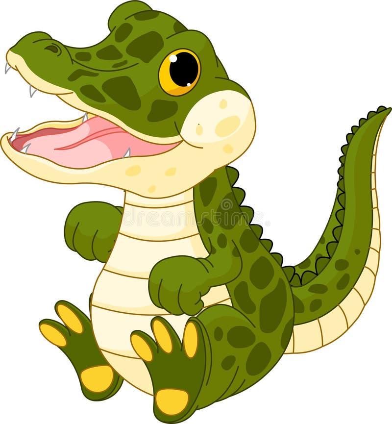 Behandla Som Ett Barn Krokodilen Arkivbild