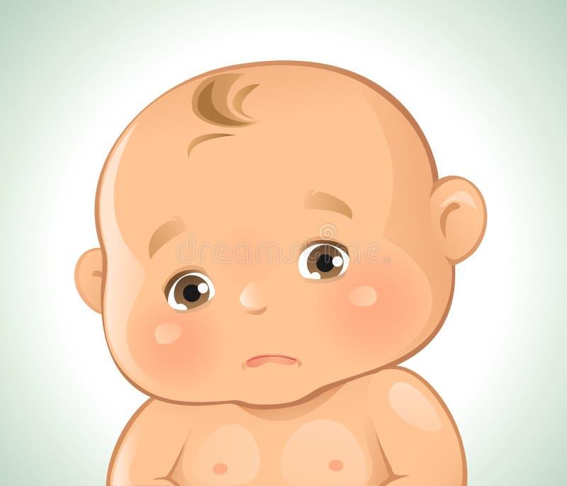 Behandla som ett barn ledsna sinnesrörelser royaltyfri illustrationer