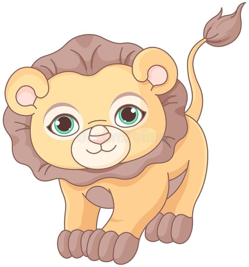 Behandla som ett barn lejonet vektor illustrationer