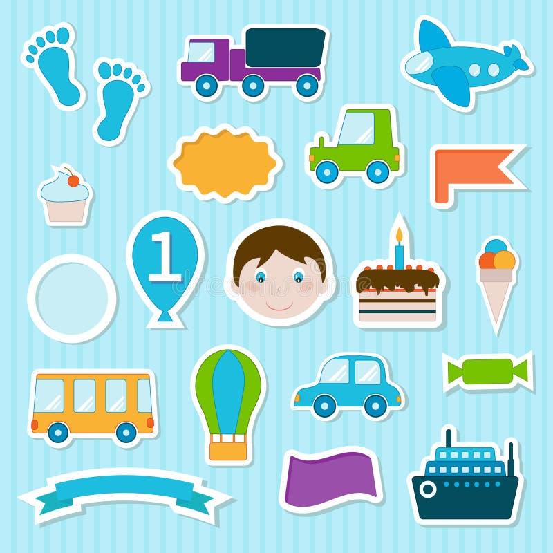 Download Behandla Som Ett Barn Leksakklistermärkear Vektor Illustrationer - Illustration av färgrikt, trans: 76701192