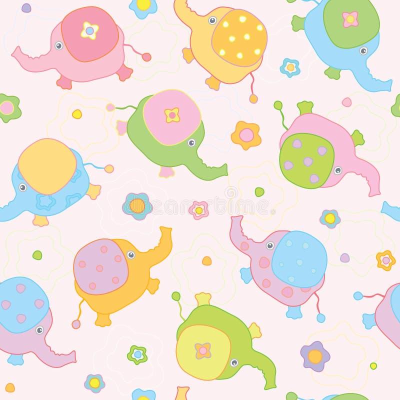behandla som ett barn lilla gulliga elefanter för bakgrund stock illustrationer