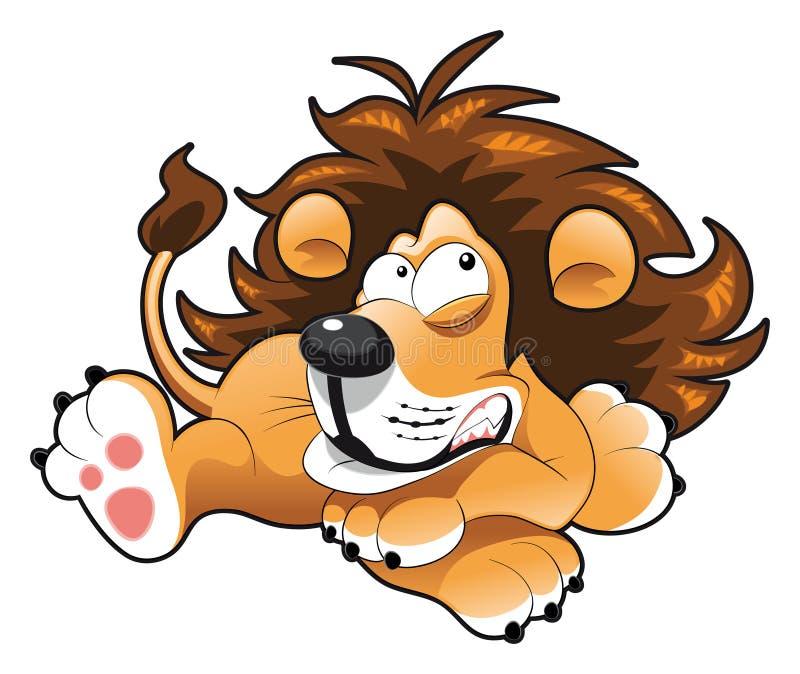 behandla som ett barn lionen stock illustrationer