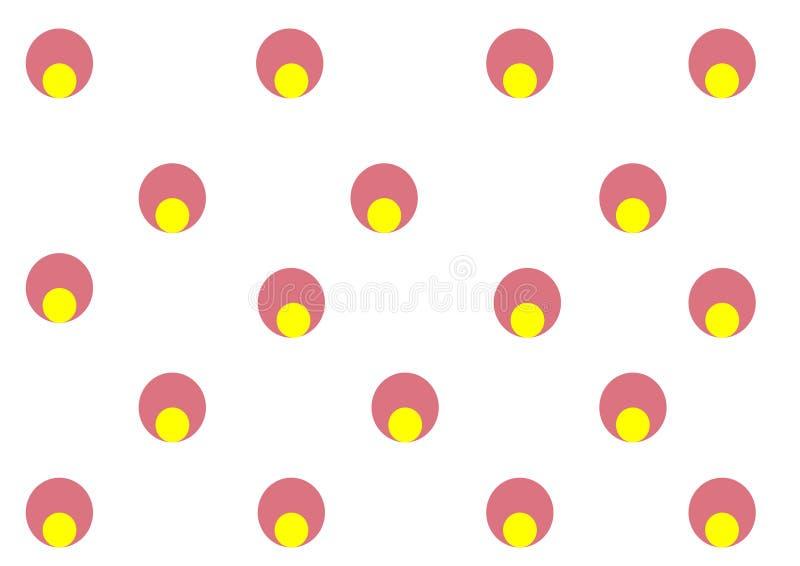 Behandla som ett barn ljust runt abstrakt begrepp för illustrationbakgrund cirkeln stock illustrationer
