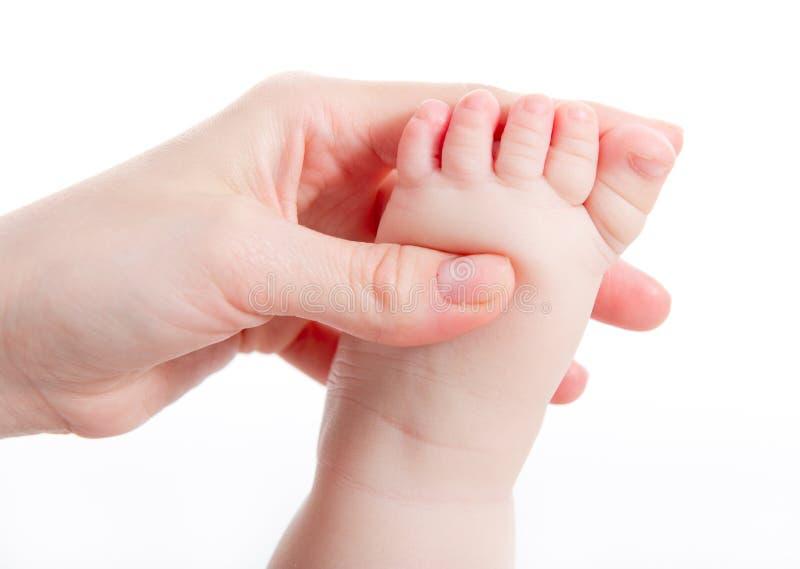 behandla som ett barn massagen royaltyfri bild