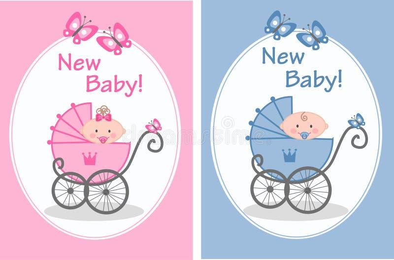 behandla som ett barn nyfött royaltyfri illustrationer