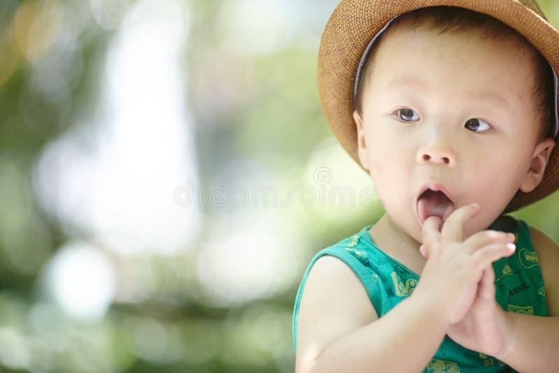 Behandla som ett barn pojken i sommar royaltyfri fotografi