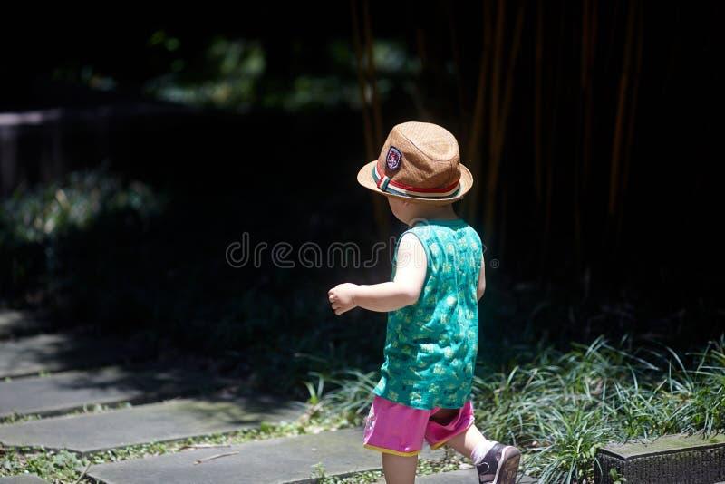 Behandla som ett barn pojken i sommar royaltyfri foto