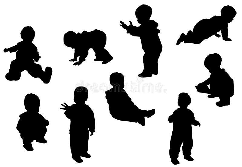 behandla som ett barn poserar royaltyfri illustrationer