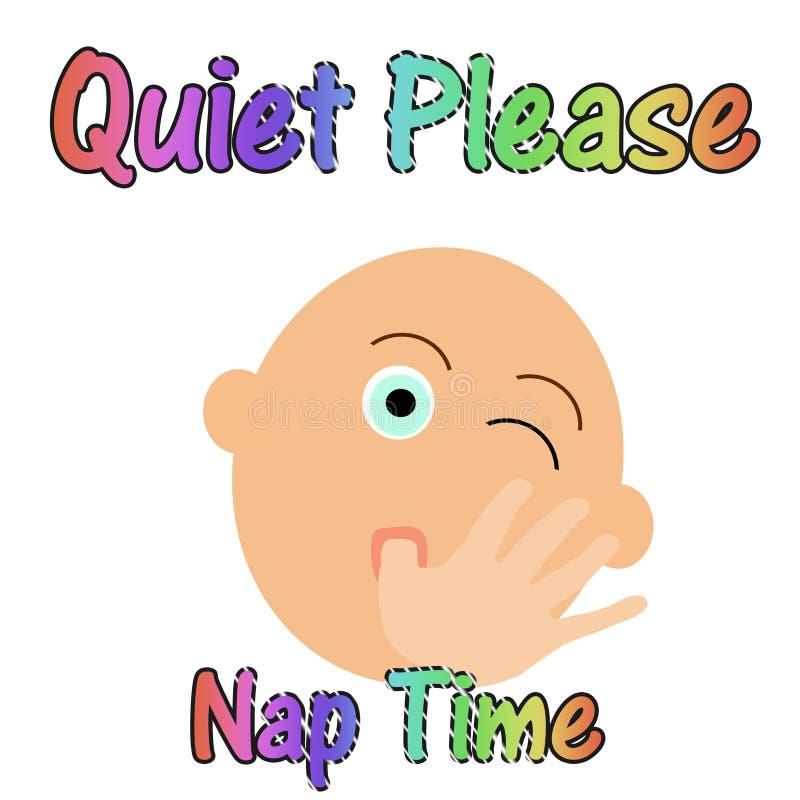 behandla som ett barn quiet att sova stock illustrationer