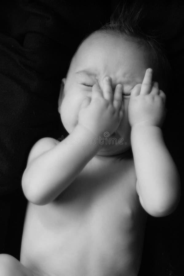 behandla som ett barn sömnigt royaltyfri bild