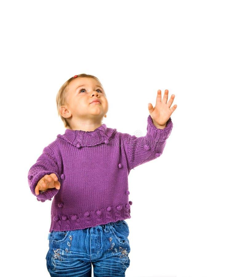 behandla som ett barn se upp ståenden fotografering för bildbyråer