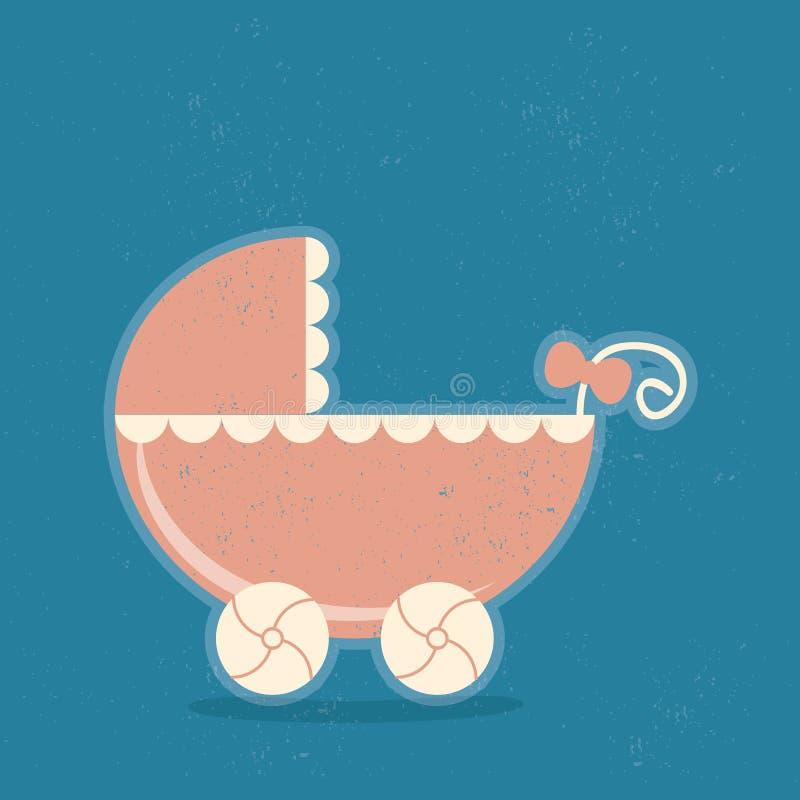 Behandla som ett barn sittvagnen stock illustrationer