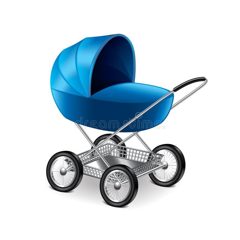 Behandla som ett barn sittvagnen på den vita vektorn stock illustrationer