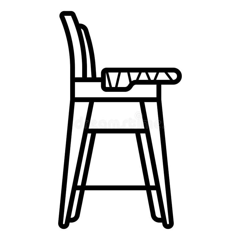 Behandla som ett barn stolvektorsymbolen royaltyfri illustrationer