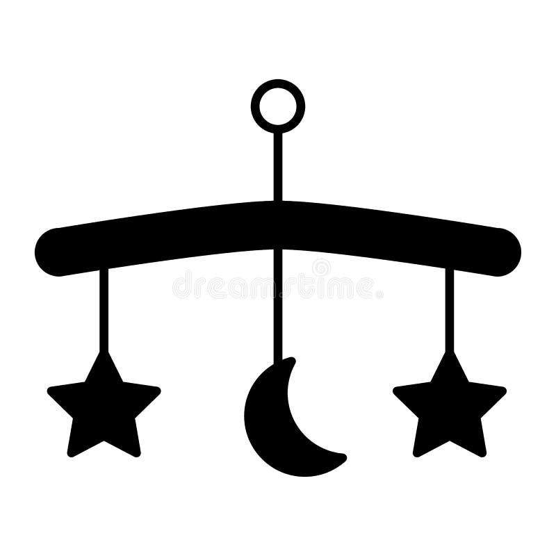 Behandla som ett barn symbolen för sängkarusellheltäckande Behandla som ett barn den mobila vektorillustrationen som isoleras på  royaltyfri illustrationer