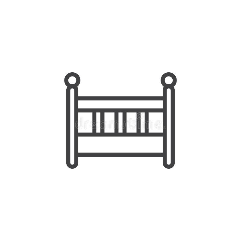 Behandla som ett barn symbolen för vaggasängöversikten stock illustrationer