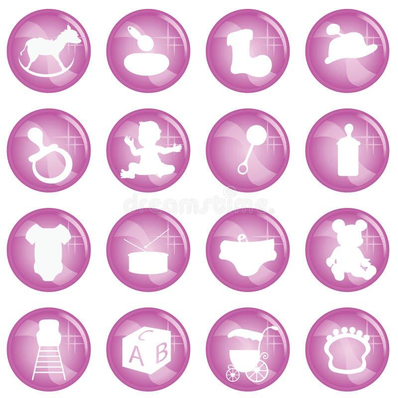 behandla som ett barn symboler vektor illustrationer
