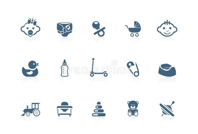 behandla som ett barn symbolspiccoloserien royaltyfri illustrationer