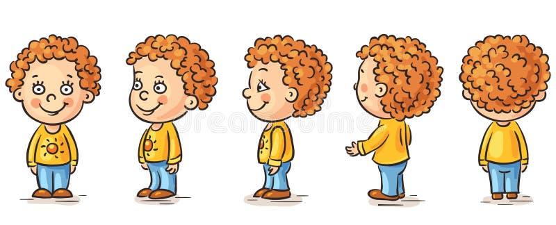 Behandla som ett barn tecknade filmen stock illustrationer