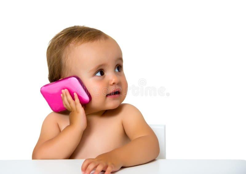 Behandla som ett barn telefonen fotografering för bildbyråer