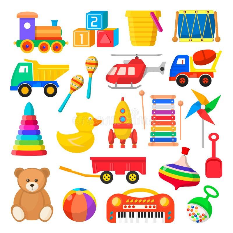 Behandla som ett barn Toy Set stock illustrationer