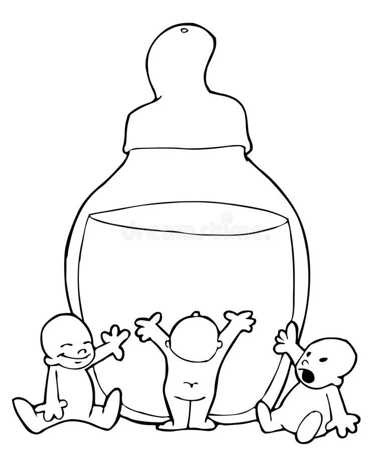behandla som ett barn tre stock illustrationer