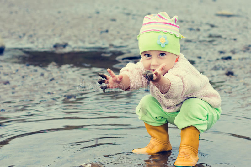 Behandla som ett barn washes arkivfoto