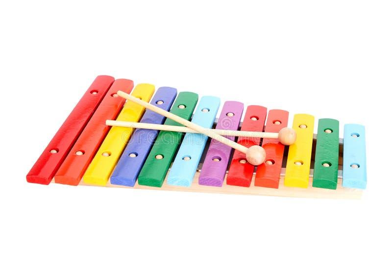 Behandla som ett barn xylofonen arkivbilder