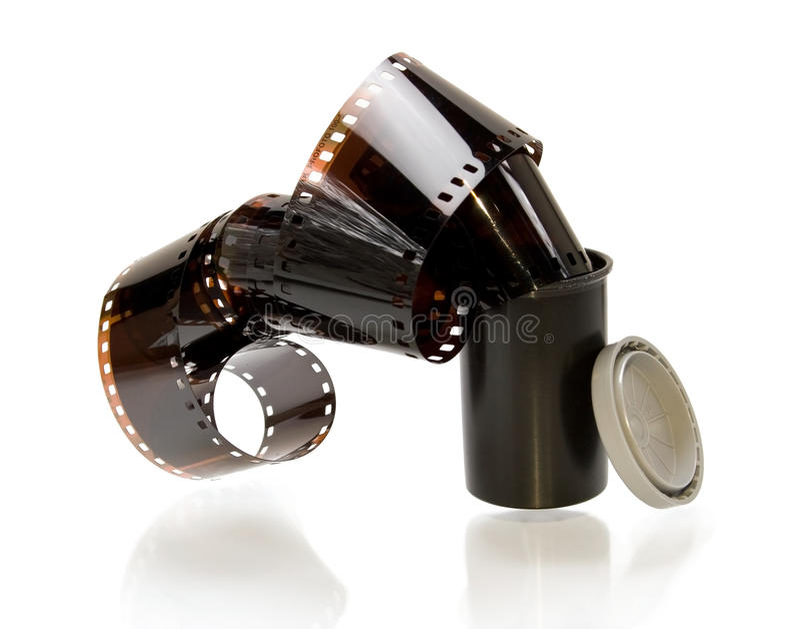 behandlad 35mm film arkivfoton