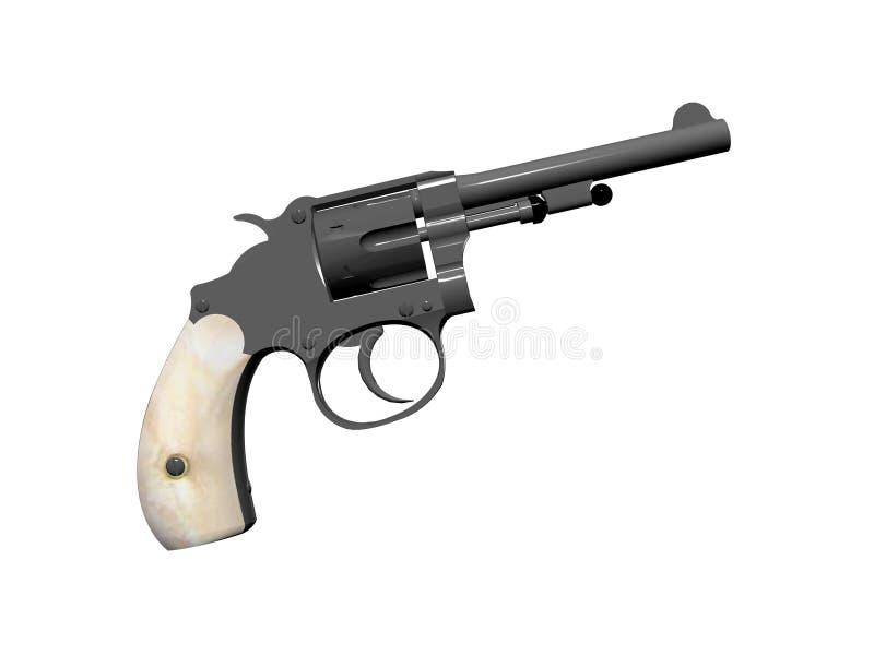 Download Behandlad Pärlemorfärg Pistol Stock Illustrationer - Illustration av mässings, wild: 290919