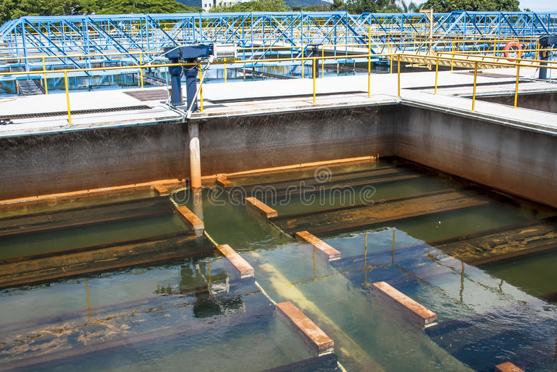 Behandling av vatten och kloak arkivbilder