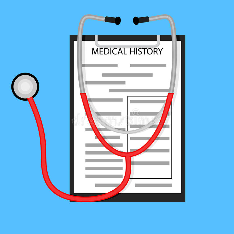 Behandling i sjukhusbegrepp royaltyfri illustrationer
