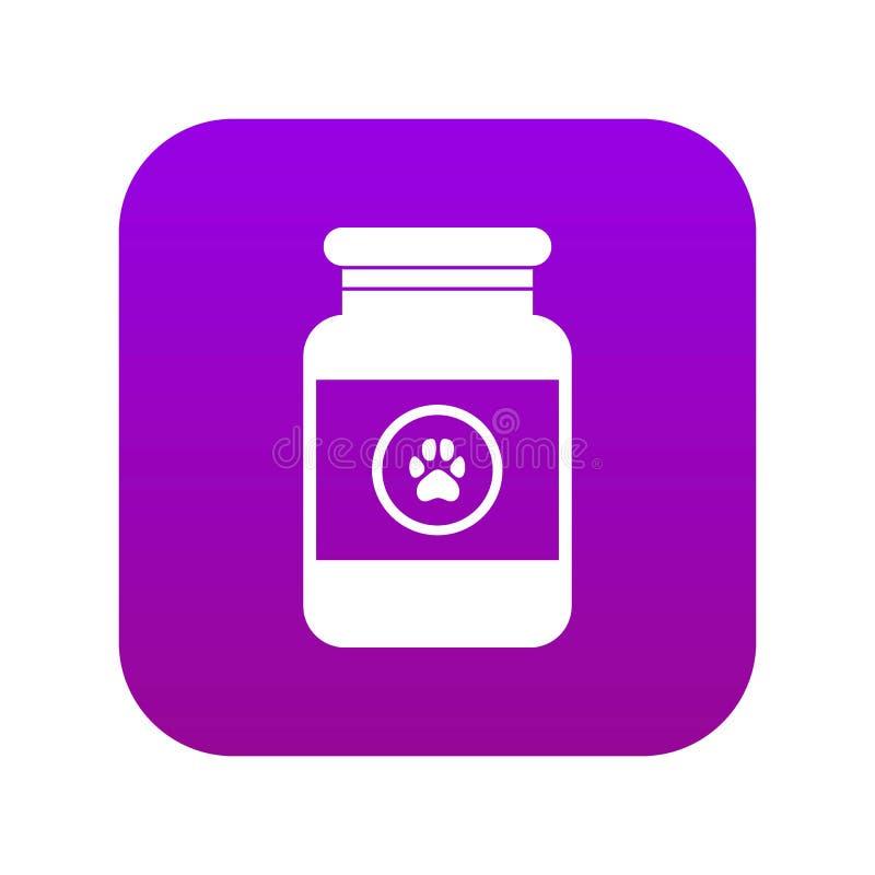 Behandlungslösung für digitales Purpurrotes der Tierikone lizenzfreie abbildung