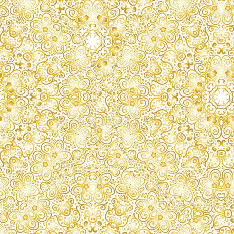 behang Een naadloze vectorachtergrond goud royalty-vrije illustratie