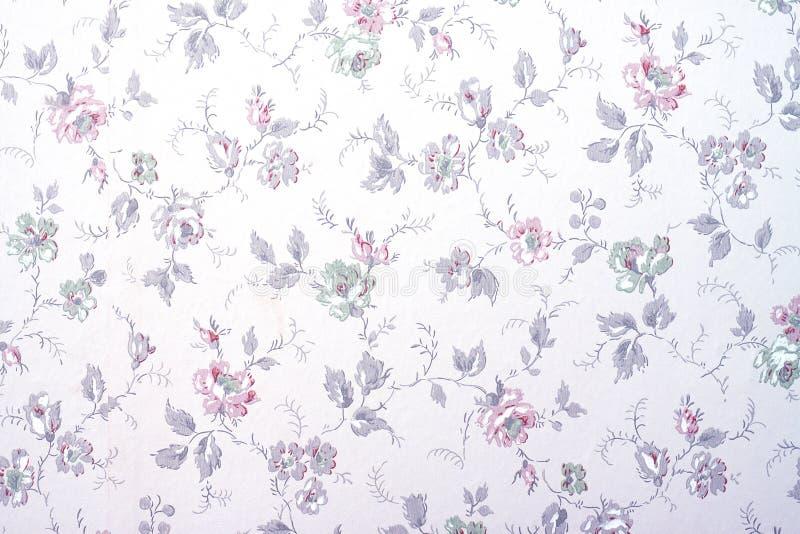 Behang met bloemen royalty-vrije stock foto