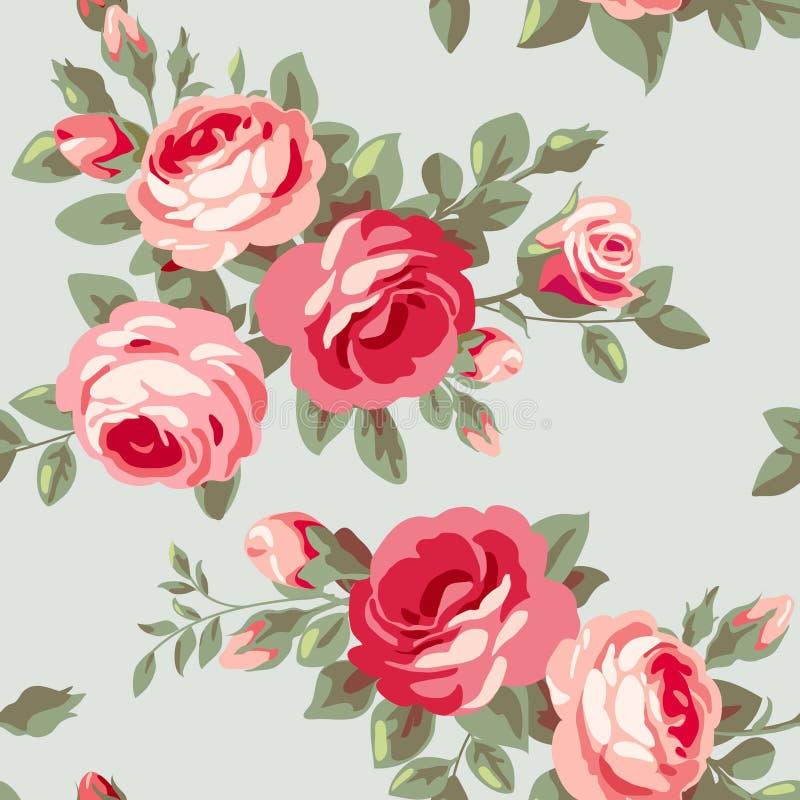 Behang met bloemen stock illustratie