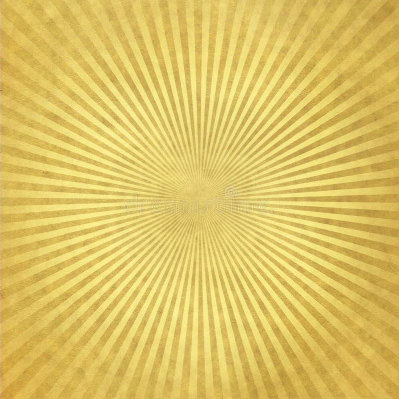 Behang met gouden stralen royalty-vrije stock afbeeldingen