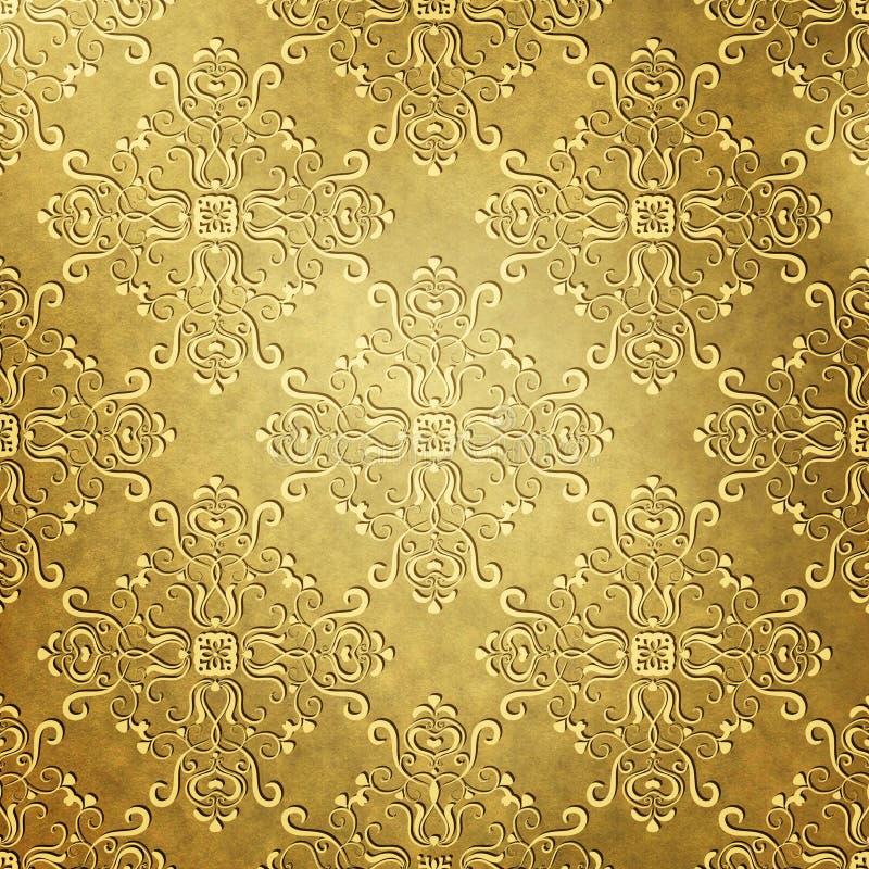 Behang met uitstekend patroon royalty-vrije stock foto