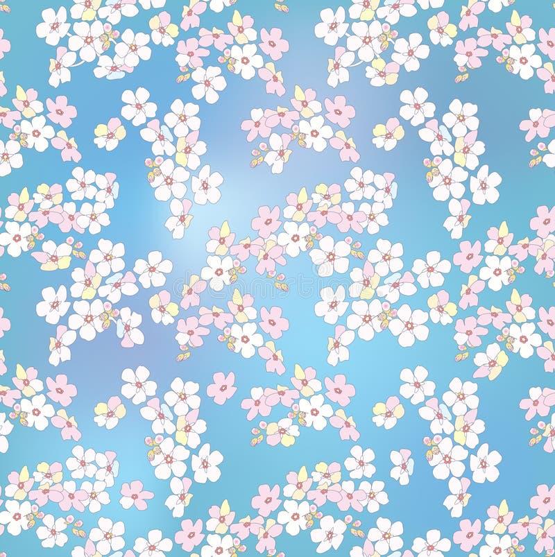 Behang van de bloem het sierlente Bloemen patroon royalty-vrije stock foto's