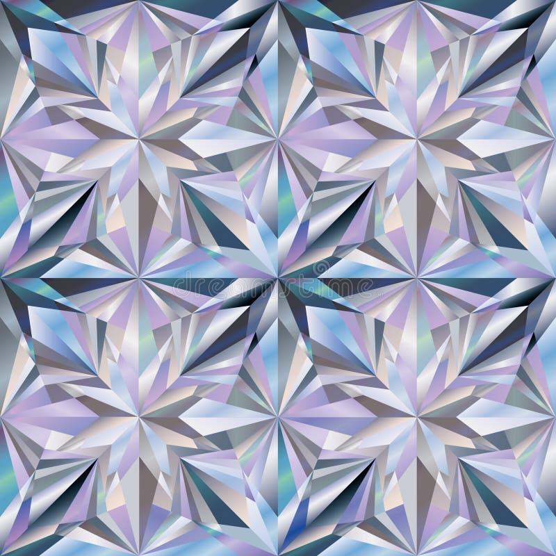 Behang van de diamant het naadloze textuur, vector stock illustratie