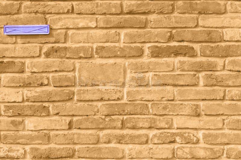 Behang van een antieke sepia bakstenen muur stock foto