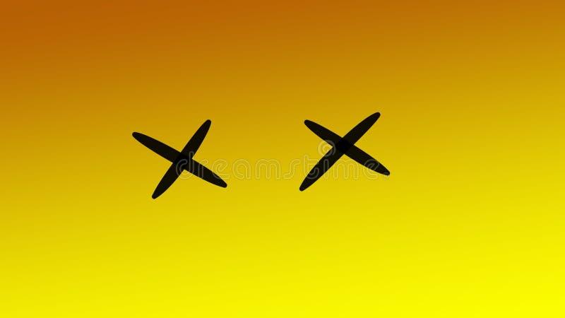 Behangpapier abstract oranje tinten zwart lijnt emoticon stock foto's
