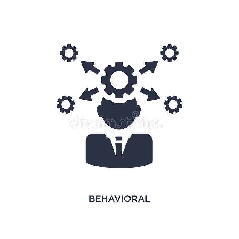 behavioral competency icon on white background. Simple element illustration from human resources concept vector illustration